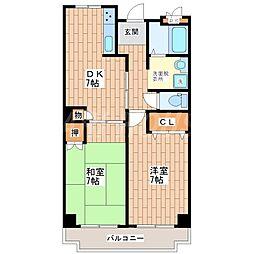 トリニティ加美東[6階]の間取り