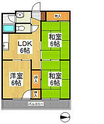 マンションセンチュリー[3階]の間取り