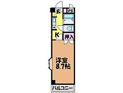 愛媛県東温市志津川の賃貸マンションの間取り