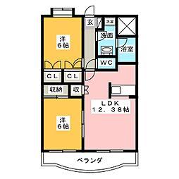 静岡県静岡市清水区馬走の賃貸マンションの間取り