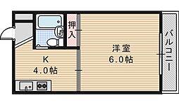 ジョイテル西田辺1[304号室]の間取り