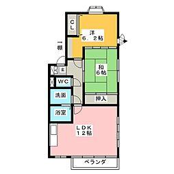 YFハイツA[1階]の間取り