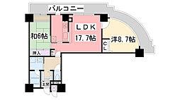 兵庫県西宮市両度町の賃貸マンションの間取り