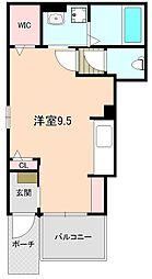 大阪府豊中市中桜塚1丁目の賃貸アパートの間取り