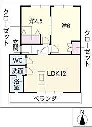 ハイツ長野J棟[3階]の間取り