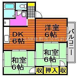 岡山県倉敷市田ノ上新町丁目なしの賃貸アパートの間取り
