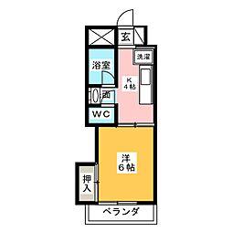竹内ビル[6階]の間取り
