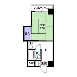 カルム箱崎[2階]の間取り