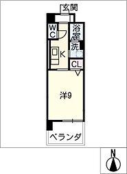 ベリッシーモ[3階]の間取り