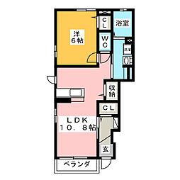 南小泉4丁目アパート[1階]の間取り