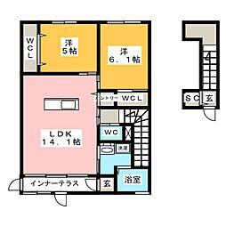 アルフレンテI[2階]の間取り