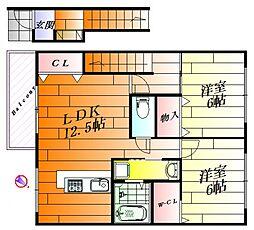 MYTハイツ[2階]の間取り