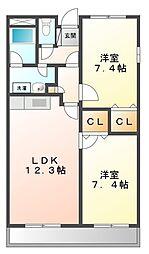 甲子園ガーデンハウス[3階]の間取り