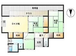 [一戸建] 東京都調布市多摩川3丁目 の賃貸【/】の間取り