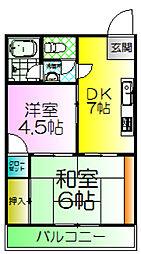大浜TKハイツ[2階]の間取り