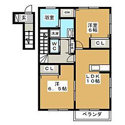 ラ・メールI[2階]の間取り