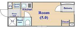 東五番館(大規模リフォーム)[305号室号室]の間取り