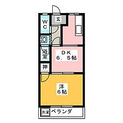 ブランドAZ[1階]の間取り