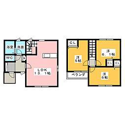 [一戸建] 栃木県宇都宮市岩曽町 の賃貸【/】の間取り