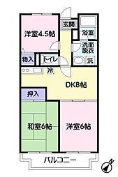 ウィスタリア藤田[3階]の間取り