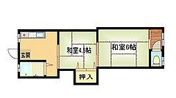 都月ハウス[1階]の間取り