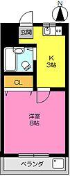 アムール鍋島[307号室]の間取り