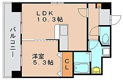 リバーランド6[5階]の間取り