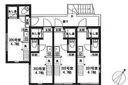新築 フォーチュンハウス[202号室]の間取り