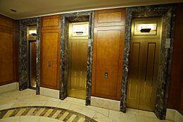 共用部分 上質な雰囲気を醸し出すエレベーターホールです。