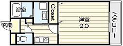 ルポ・ソレイユ[2階]の間取り
