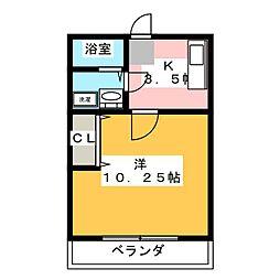 コーポK[1階]の間取り
