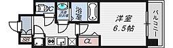 レジュールアッシュ京橋CROSSII[8階]の間取り