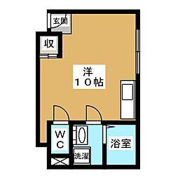 エムコート衣笠[1階]の間取り