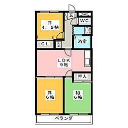 サニーコスモ[3階]の間取り