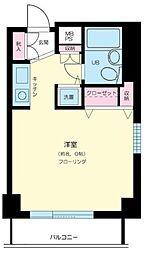 東京都目黒区中目黒1丁目の賃貸マンションの間取り