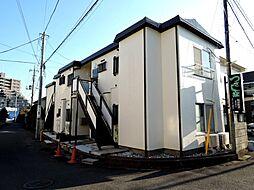 東京都日野市栄町1丁目の賃貸アパートの外観