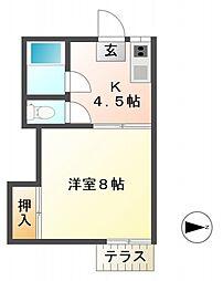 恋ヶ窪荘[2階]の間取り