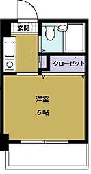 童夢ハイツ マナベ・アネックス[8階]の間取り
