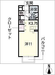 セジュールプランタン夢棟[2階]の間取り