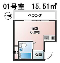 コスモメイト上汐町[1階]の間取り