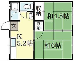 マンション竹葉[2階]の間取り
