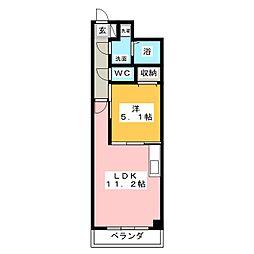 アルファレガロ西古松[8階]の間取り