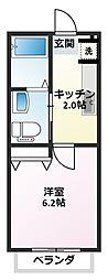 ガーデンコート仲宿III[202号室]の間取り