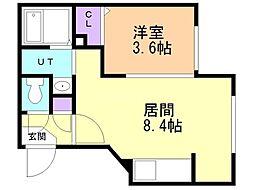 PiaCasa Gakuenmae(ピアカーサ学園前) 3階1LDKの間取り