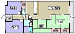 コスモハイム佐野[2階]の間取り