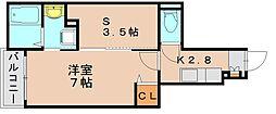 フォルシュミッテ[1階]の間取り