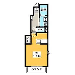 セレーノ A棟[1階]の間取り