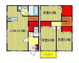 [一戸建] 千葉県柏市大塚町6丁目 の賃貸【/】の間取り