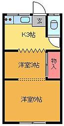 ヤマトハウス[202号室]の間取り