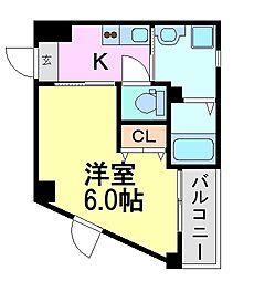 兵庫県尼崎市杭瀬本町3丁目の賃貸アパートの間取り